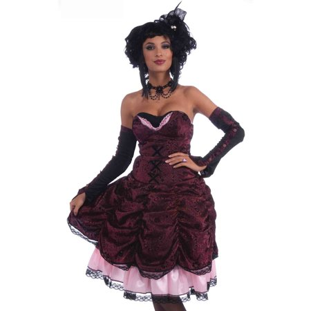 Forum Sexy Gothic Saloon Girl Dress Vampire Halloween - Old West Saloon Girl