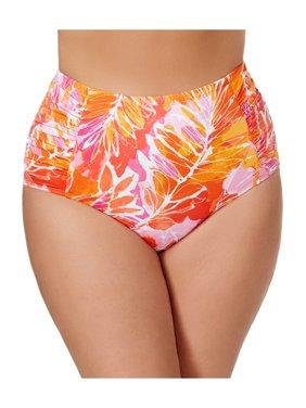 303f587948efa Product Image Ralph Lauren Plus Size Tropical Print Bikini Bottom 18 Orange  Womens Swimsuit