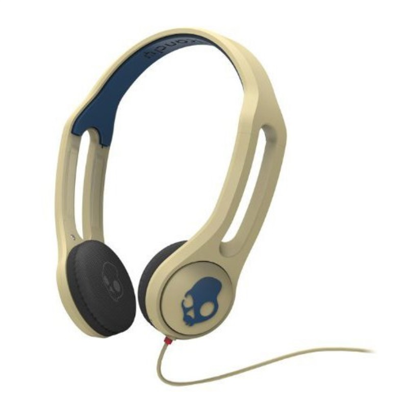 Skullcandy Icon 3 with TapTech Mic Premium Wired Headphone - Khaki/Navy