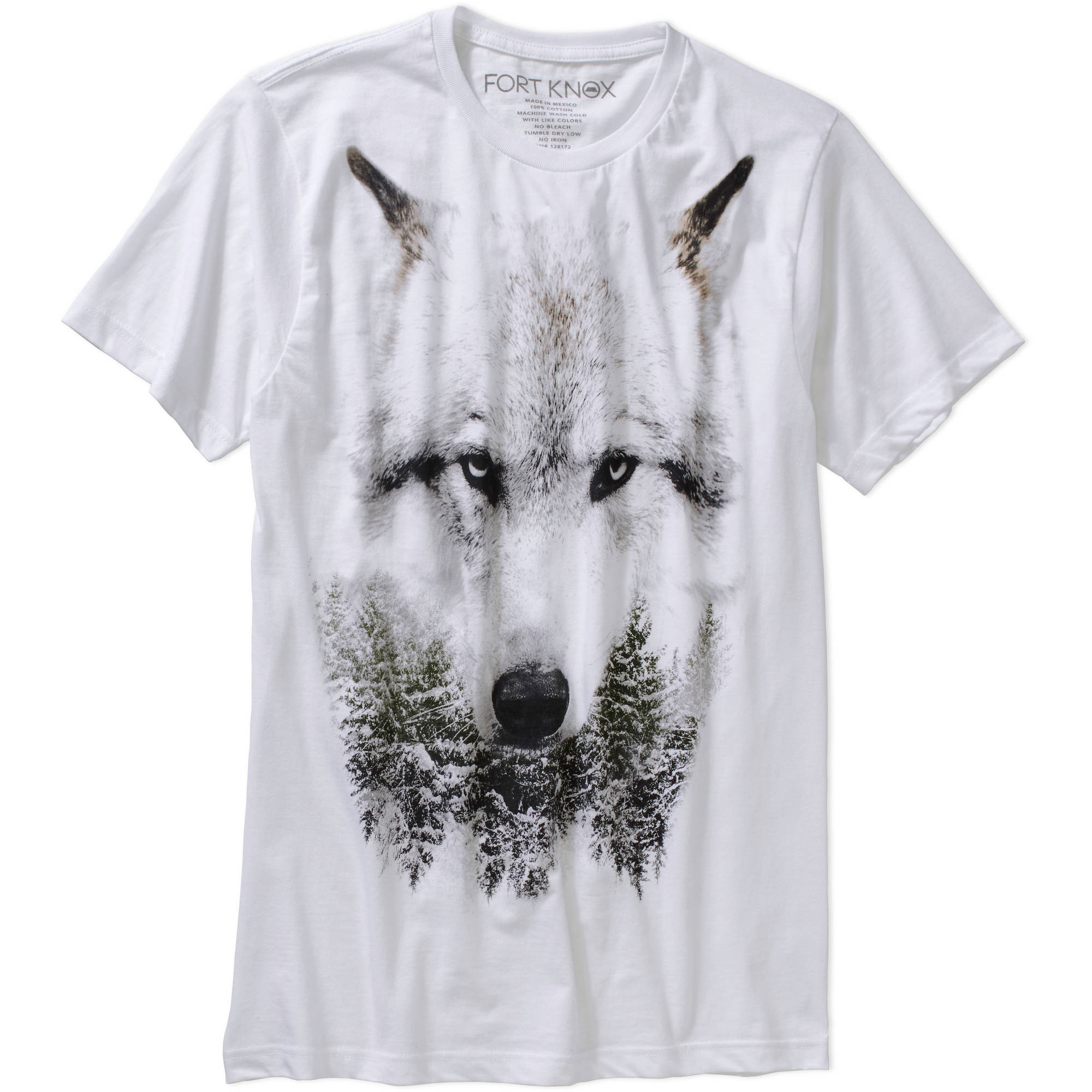 Fort Knox Men's Snow Wolf Graphic Tee