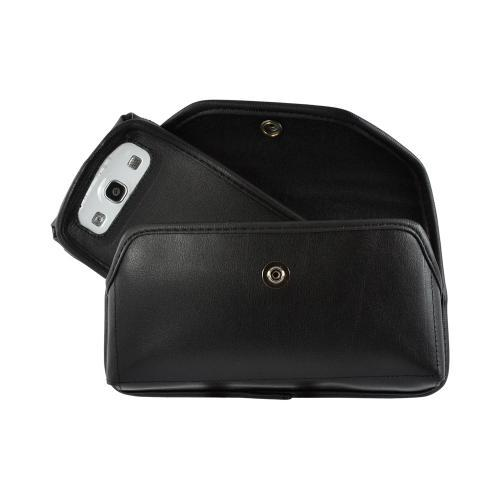 Turtleback Black Leather Pouch w/ Heavy Duty Steel Swivel...