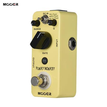 MOOER FUNKY MONKEY Auto Wah Guitar Effect Pedal 3 Peak Modes True Bypass Full Metal