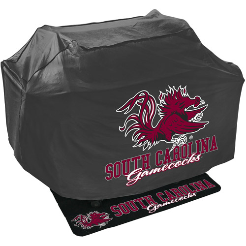 Mr. Bar-B-Q NCAA Grill Cover and Grill Mat Set, University of South Carolina Gamecocks