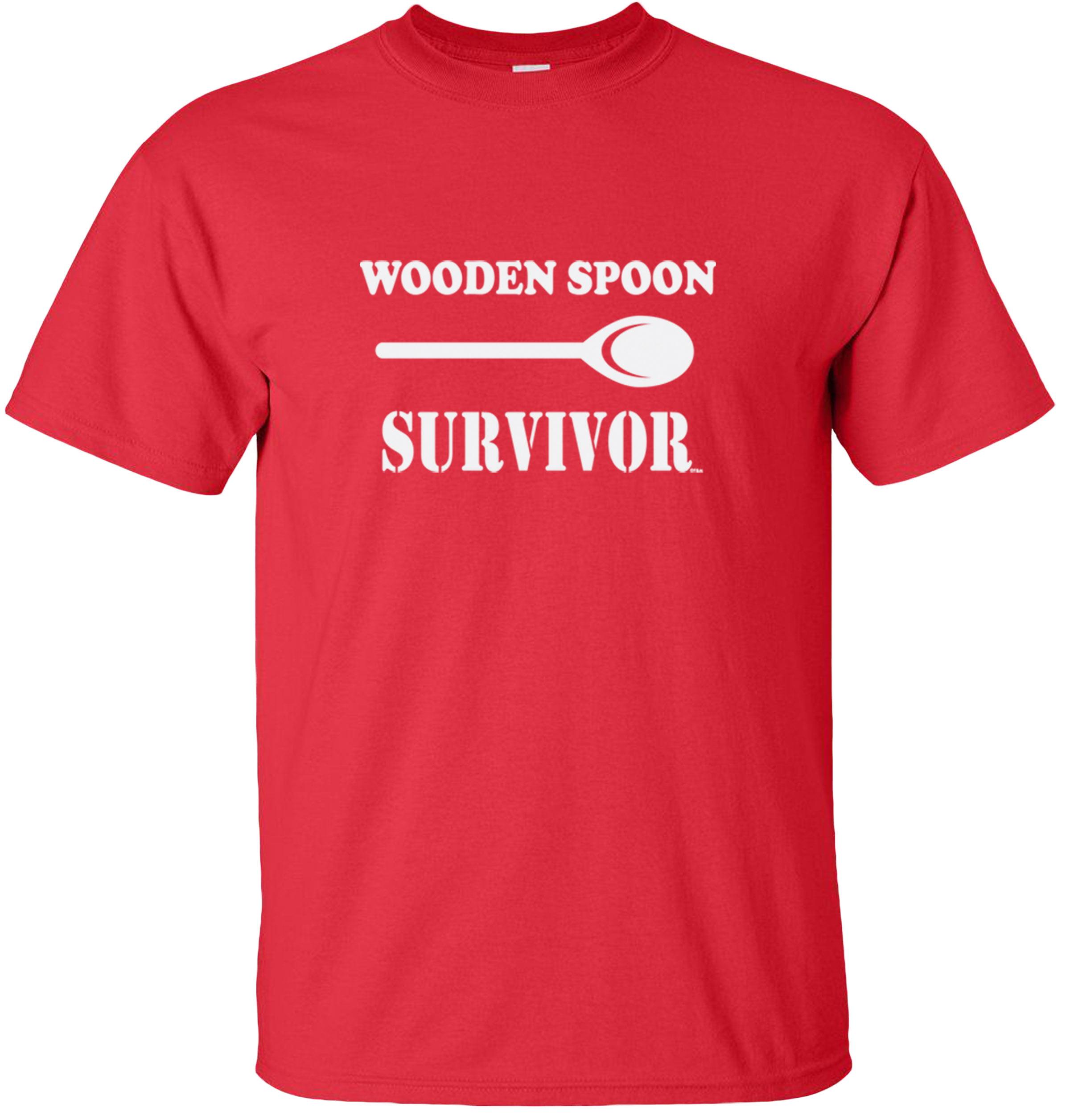 Wooden Spoon Survivor Unisex T-Shirt Funny Adult shirt