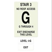 INTERSIGN NFPA-PVC1812-X(3GN4) NFPASgn,StairId3,RoofAccssN,FlrsSrvd1to4