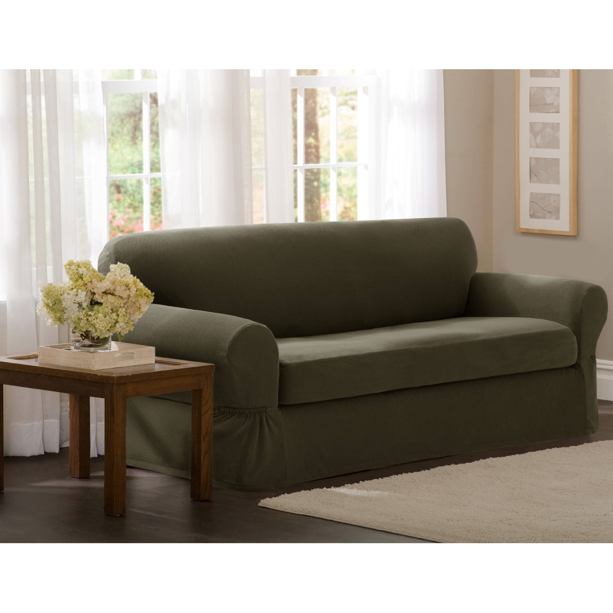 Maytex Stretch 2 Piece Sofa Slipcover Walmart