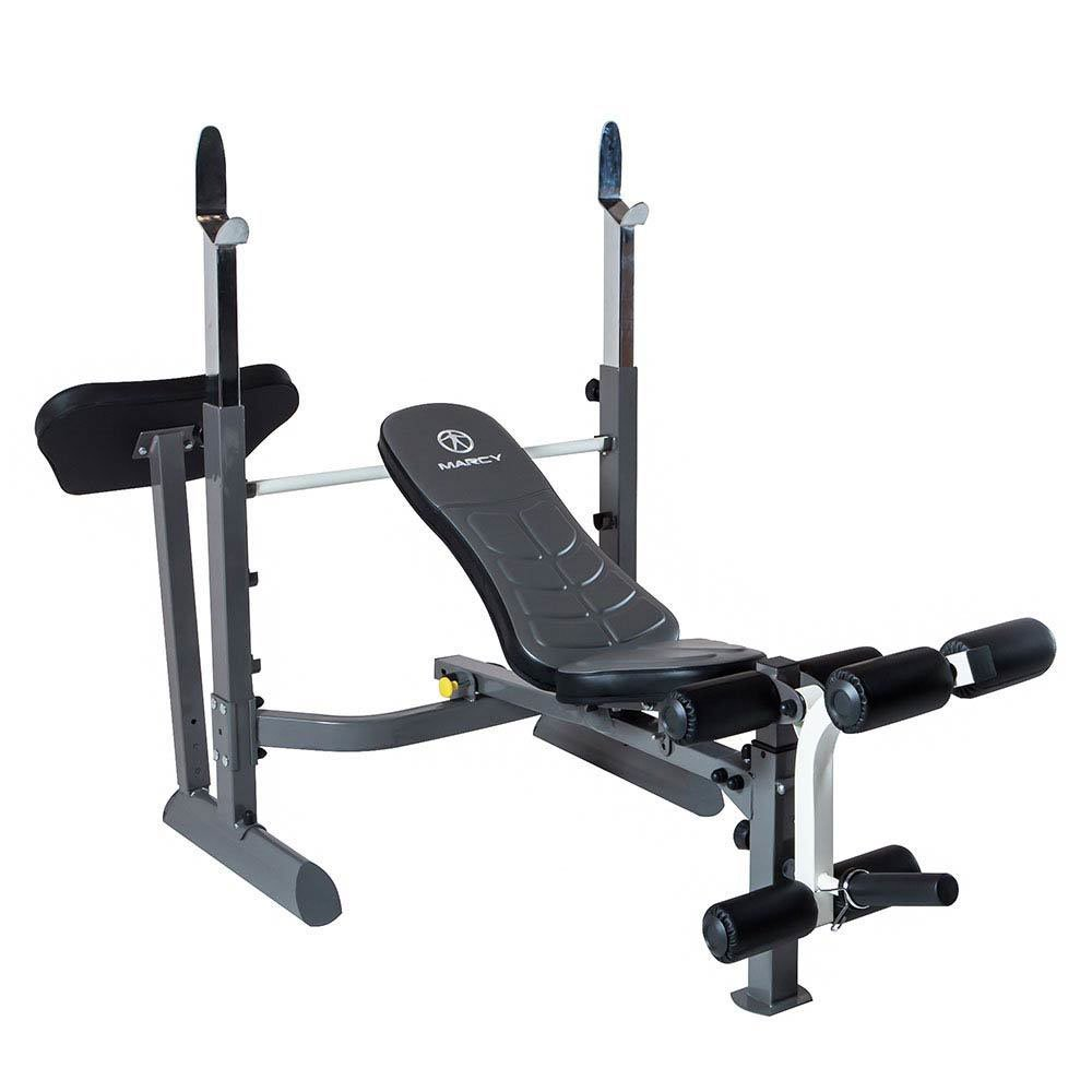 Great Marcy Foldable Durable Mid Size Multi Function Gym Rack Style Workout Bench