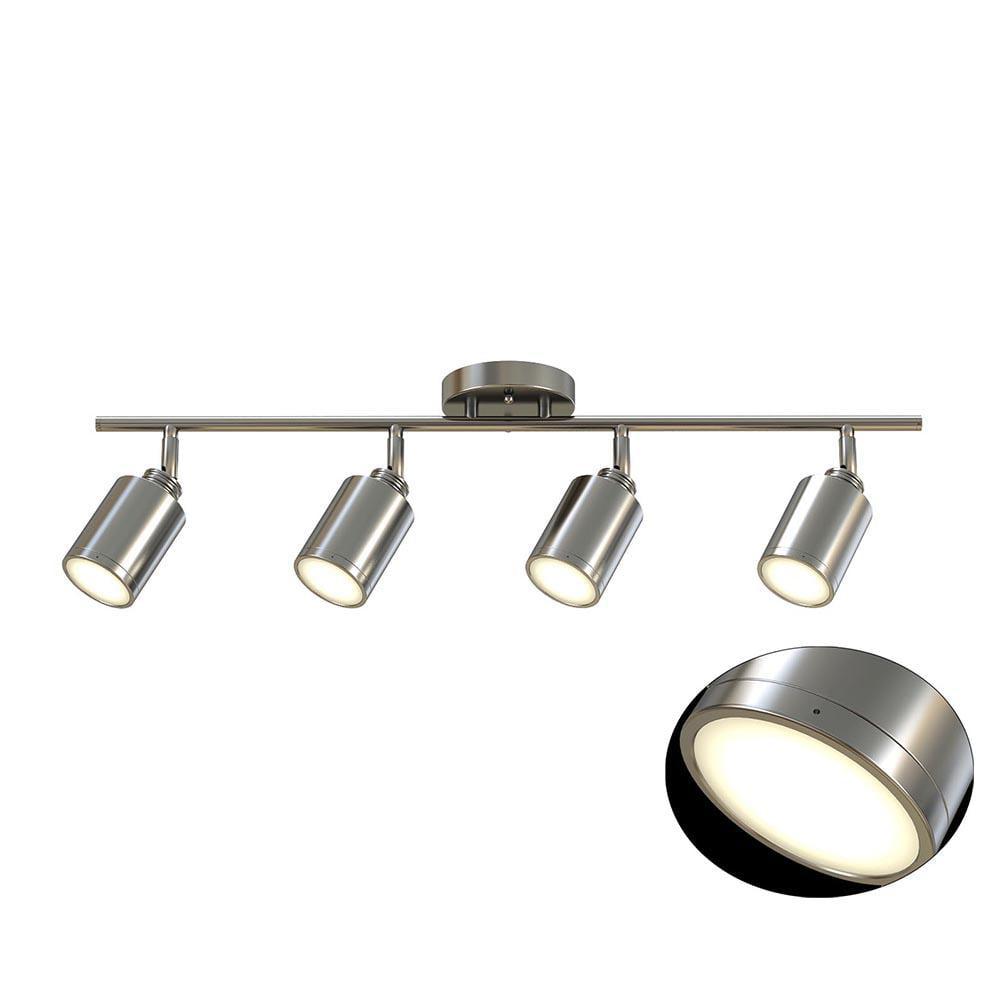 4 Light Brushed Nickel Integrated Led