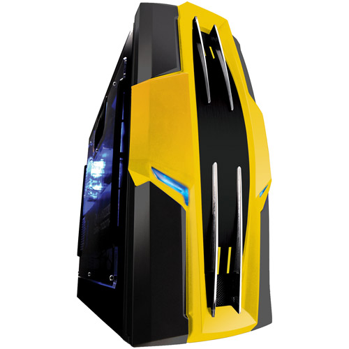 Raidmax Aztec SECC Steel ATX Mid Tower Foldout MB Computer Case, Black/Yellow