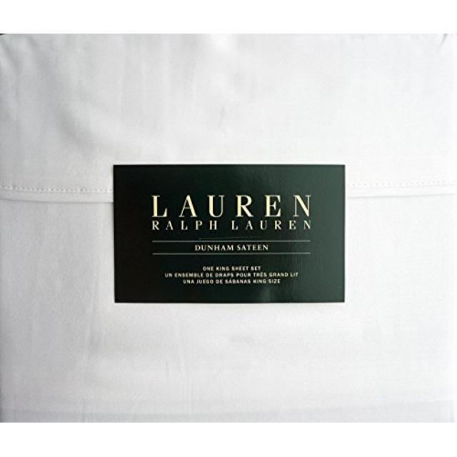 ~NEW~ LAUREN RALPH LAUREN DUNHAM SATEEN QUEEN SHEET SET 100/% COTTON SATEEN ~98