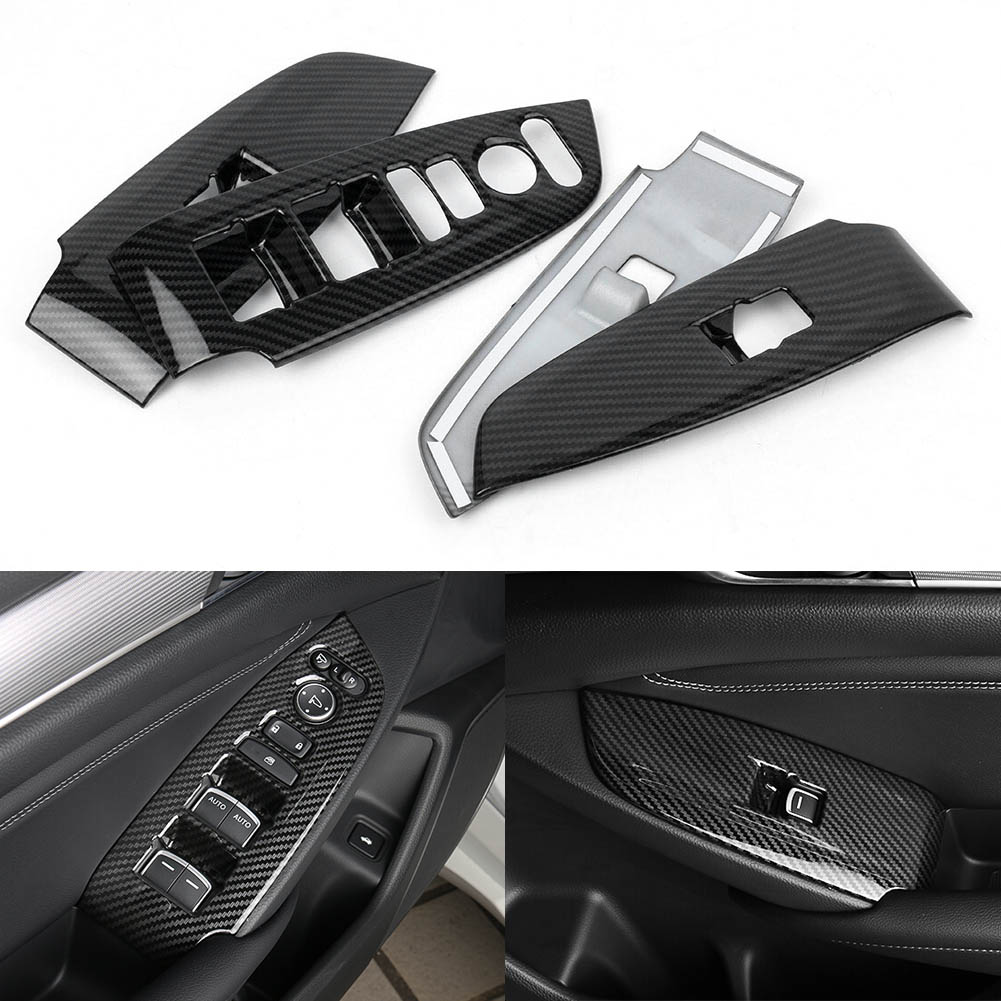 GZYF 4PCS ABS Carbon Fiber Style Window Lift Switch Button Panel For HONDA  ACCORD 2018 - Walmart.com - Walmart.comWalmart