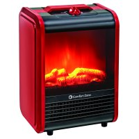 Deals on Comfort Zone Mini Electric Fireplace Space Heater