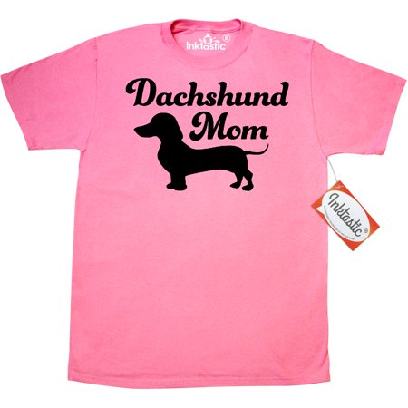 Inktastic Dachshund Mom T-Shirt Mothers Day Cat Moms Dog Breed Weiner Sausage Puppy Rescue New Cuddly Doxie Mens Adult Clothing Apparel Tees (Dachshund Puppy Clothes)