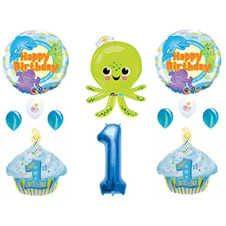 UNDER THE SEA Octopus Dolphin 1st Birthday Party Balloons Decoration Supplies Ocean - Under The Sea Birthday Party Supplies