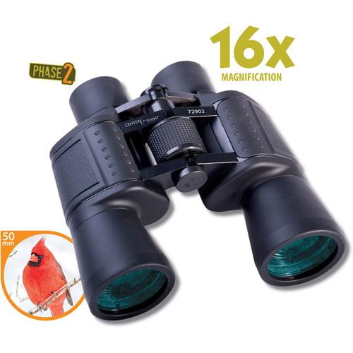 CenterPoint P2 Series 16x50mm Binoculars with Porro Prism Design, Black
