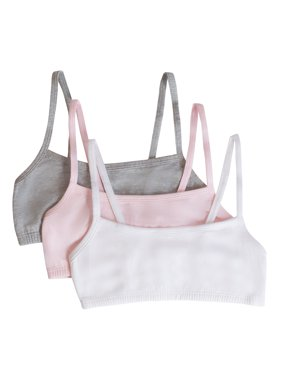Fruit of the Loom Girls' Spaghetti Strap Sport Bras 3 Pack (Little Girls & Big Girls)