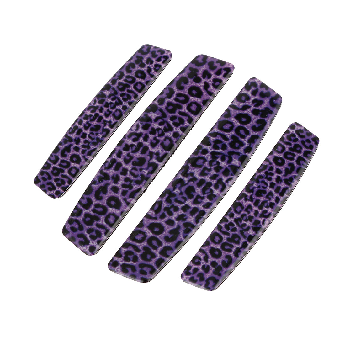 Purple Plastic Self-Adhesive Decoration Car Door Guard Protector Sticker 4 in 1
