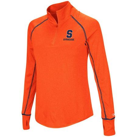 Womens Syracuse Orange Quarter Zip Pull Over Wind Shirt   S