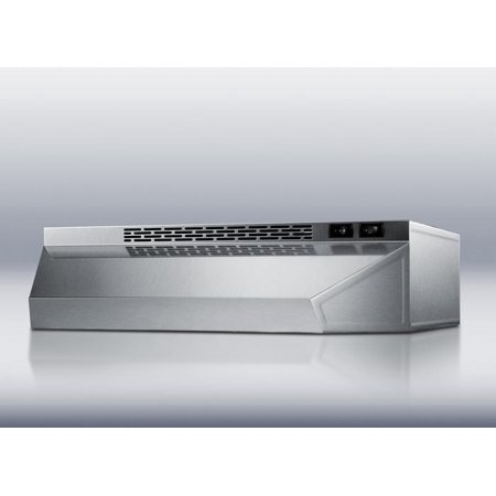 H1624SS 24 Standard Hood Under Cabinet Range Hood With 180 CFM Internal Blower  2 Fan Speeds  Switchable Light  Convertible To Recirculating Operation  In Stainless (Best Recirculating Range Hood)