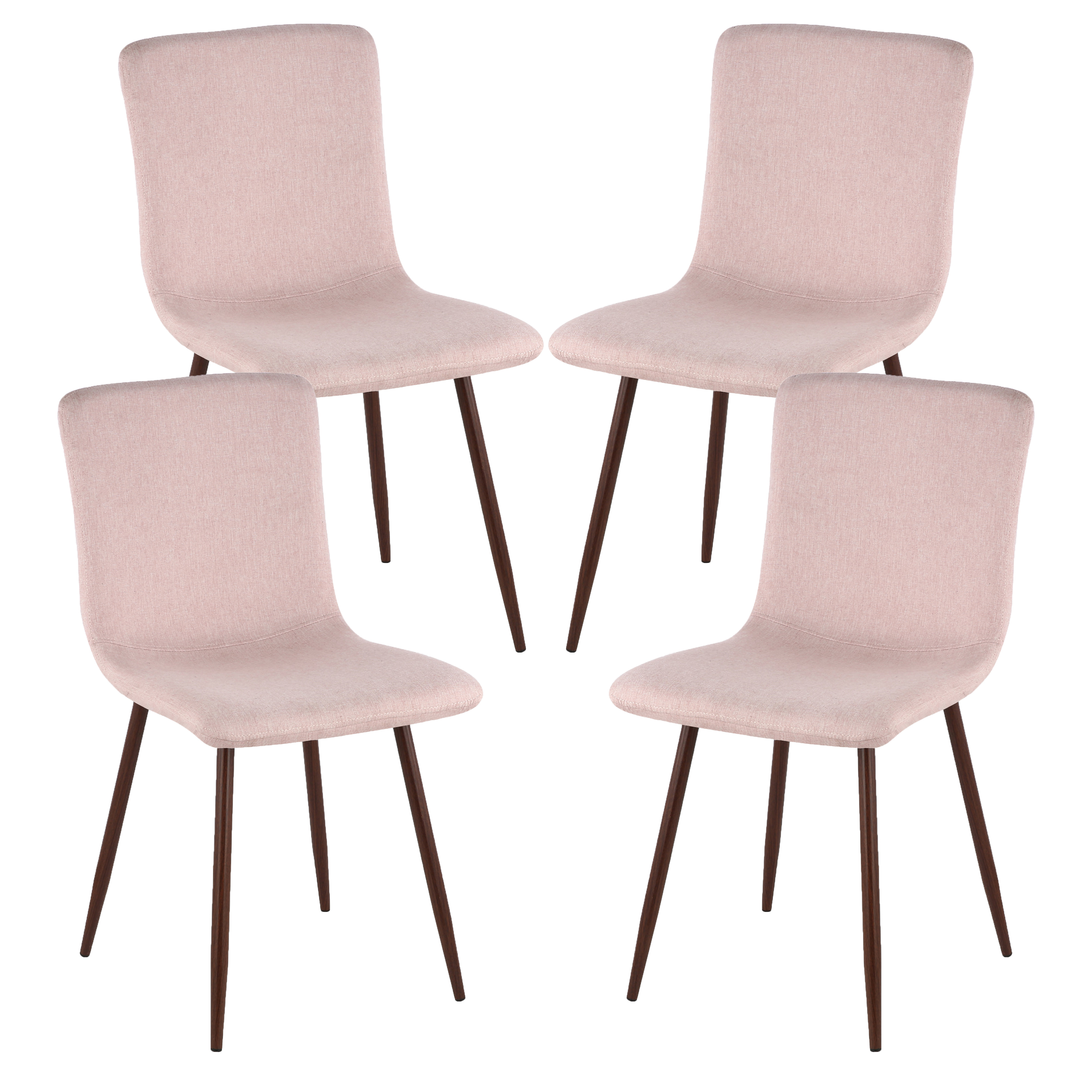 Poly and Bark Wadsworth Dining Chair with Walnut Legs in Green(Set of 4)