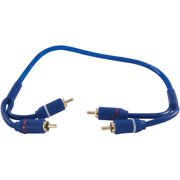 DB Link SR1.5 Soft-Touch Triple Shielded Blue Strandworx RCA Cable, 1.5'