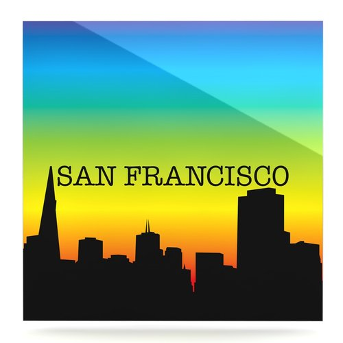 East Urban Home 'San Francisco' Graphic Art Print on Metal