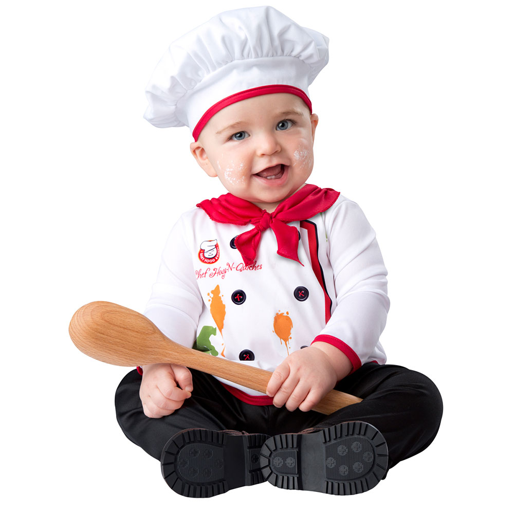 Infant Hugs & Quiches Chef Halloween Costume