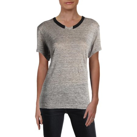Wilt Womens Linen Heathered T-Shirt Gray M (Heathered Linen)