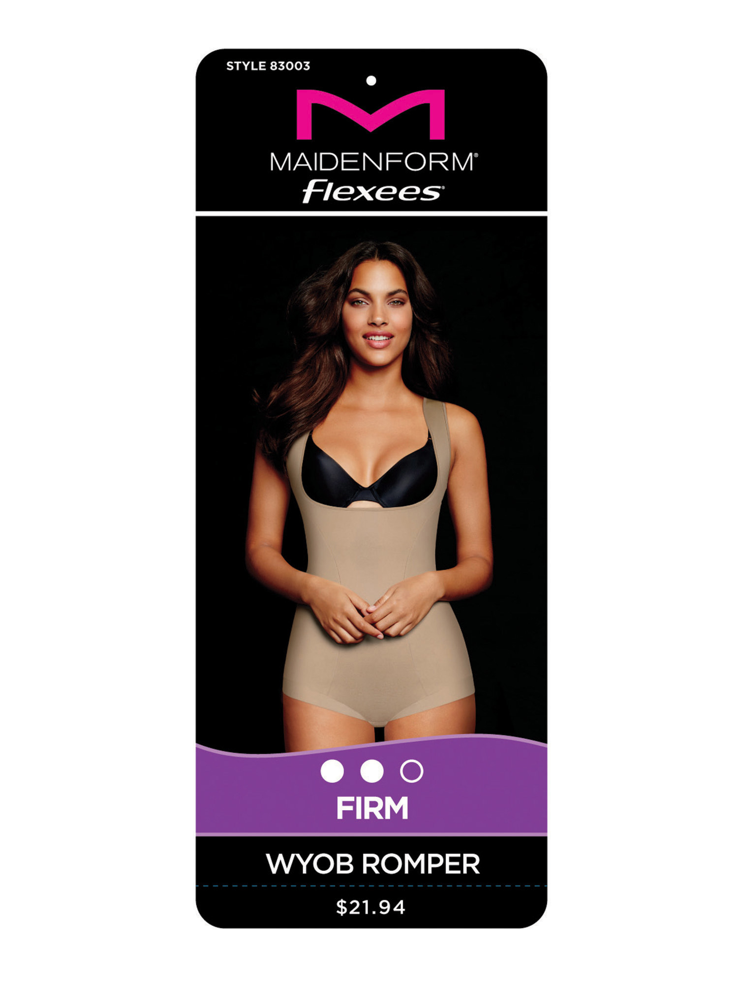 67995b025b Flexees by Maidenform - Firm Control Wear Your Own Bra Shaping Romper -  Walmart.com