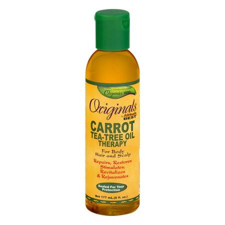 Africa S Best Originals Organics Carrot Tea Tree Oil Therapy 6 Fl Oz