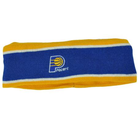 Nba Indiana Pacers Fleece Blue Head Sweat Sports Band Basketball Double Stripe