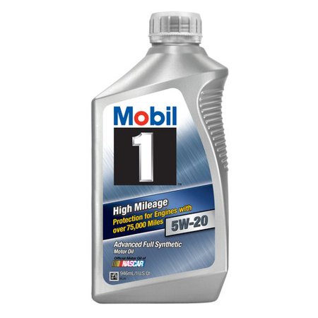 Mobil 1 5W 20 High Mileage Advanced Full Synthetic Motor Oil  1 Qt