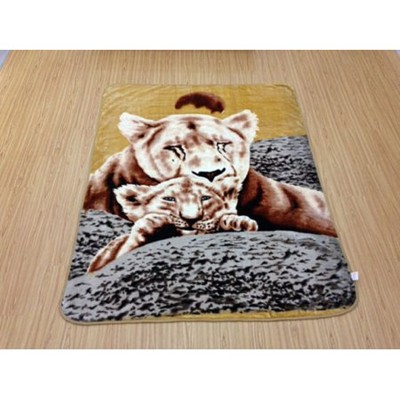 WPM Animal Print Super Soft Mink Blanket 1 Ply 5 STAR blankets Queen Size - Star Mink Blanket