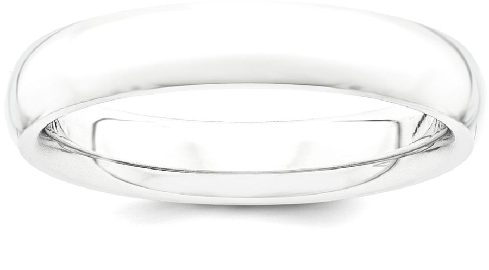 IceCarats Platinum 4mm Half Round Comfort Fit Lightweight Wedding Ring Band Size 9.00 Classic Domed by