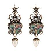 Clearance Sale 1 Pair Fashion Diamond Resin Earring Creative Shining Earring Jewelry Gold