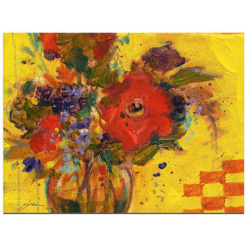 "Trademark Art ""The Yellow Wall"" Canvas Art by Sheila Golden"