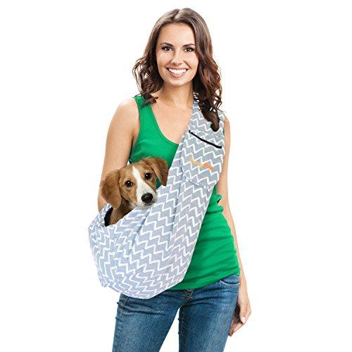 Dog Carrier Sling Pet Sling With Extra Pocket Furryfido Adjustable