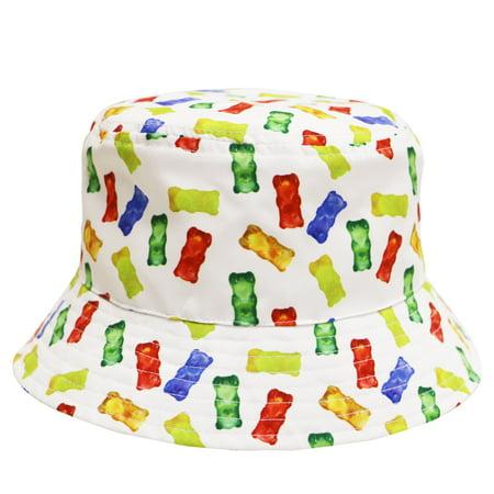 City Hunter Bd1950 Gummy Bear Bucket Hats - White](Crocodile Hunter Hat)