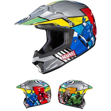 HJC CL-XY II Marvel Avengers Youth Helmet Blue/Red (MC-21) (Gray, Small)