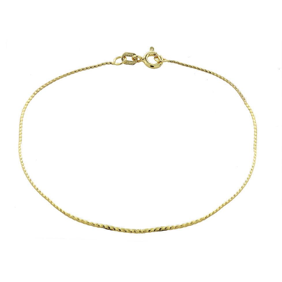 Mondevio  14k Gold .75mm Diamond Cut Foxtail Chain