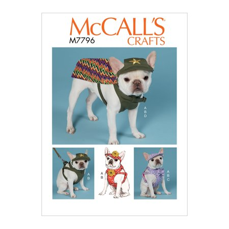 McCall's Sewing Pattern Dog Hats, Harness and Cape-All Sizes in One Envelope