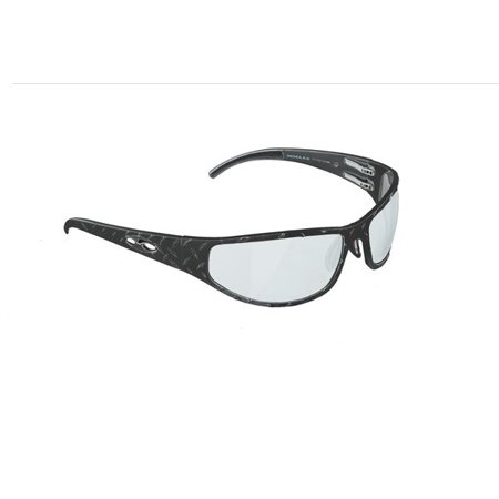 ICICLES Baggers Diamond Transition Mirror Lens Sunglass in Matte Black