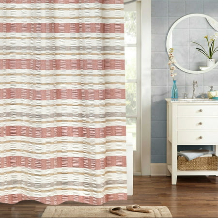 "Baltic 100% Cotton Fabric Woven Jaqcuard Shower Curtain 70"" x 72"""