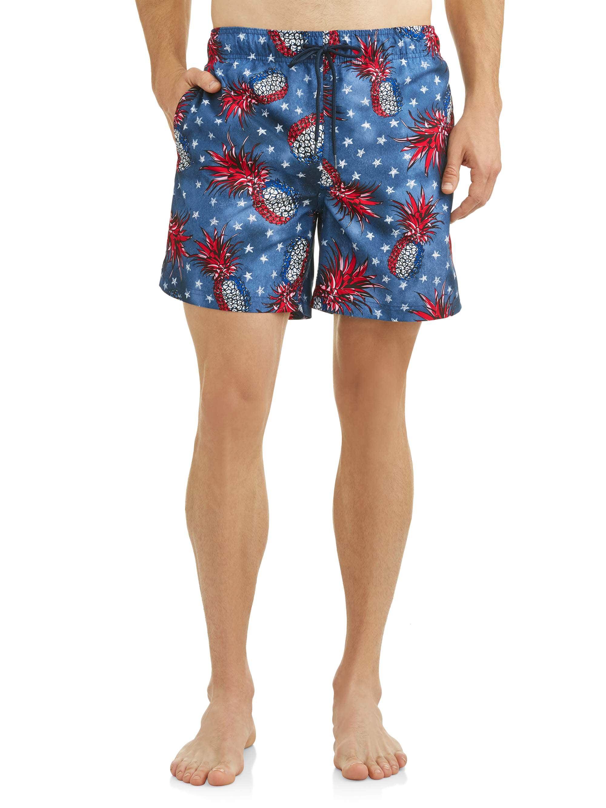 Men's Pineapple Americana Swim Short, up to size 5XL