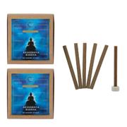 Tatva Yog Akshobhya Buddha Dhoop Batti Sticks with Stand Holder (Pack of 2, 20 Sticks Per Pack)