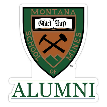 Montana Tech 4-Inch Laser Cut Alumni Vinyl Decal Sticker Laser Cut Decals