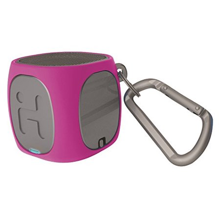 iHome iBT55PGC Bluetooth Rechargeable Mini Speaker System, Pink/Gray