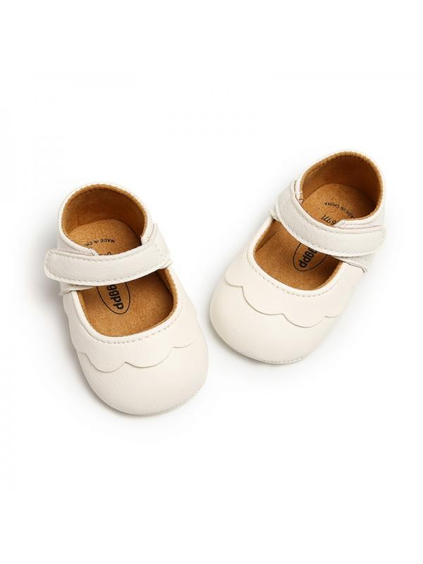 Leather Baby Girl Shoes Infant Non-slip Soft Sole Toddler Shoes Cute Crib Shoes