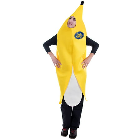 Boo! Inc. Big Cabana Banana Halloween Costume | Adult One-Size Unisex, Funny Food - Funny Last Minute Couples Halloween Costumes