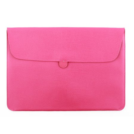 Solo 15.4 Leather Laptop - PC Notebook PU Leather Pouch Laptop Sleeve Magenta for Macbook 15.4 Inch